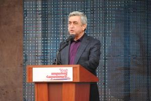 ՀՀ նախագահ Սերժ Սարգսյանի նախընտրական ելույթը Եղեգնաձորում